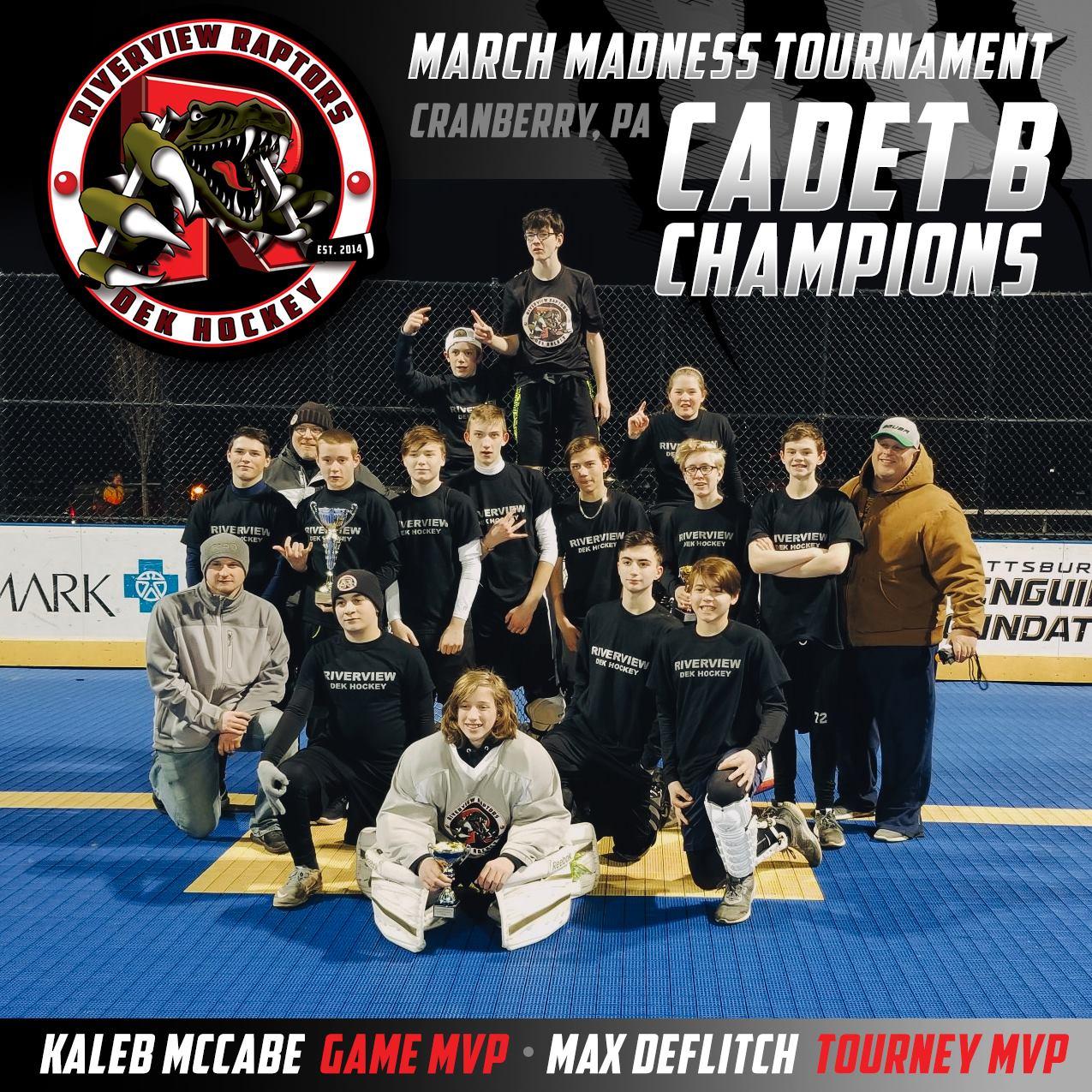 Cadet B Tournament Champions