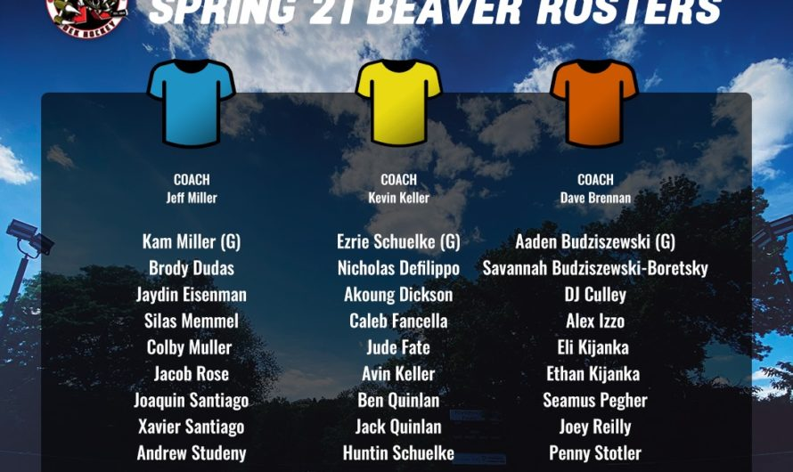 Spring 2021 Beaver Rosters
